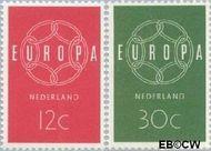 Nederland NL 727#728  1959 C.E.P.T.- Ketting   cent  Gestempeld