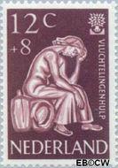 Nederland NL 736  1960 Int. Vluchtelingenjaar 12+8 cent  Gestempeld