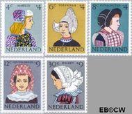 Nederland NL 747#751  1960 Klederdrachten   cent  Gestempeld