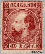 Nederland NL 8  1867 Koning Willem III- 3e emissie 10 cent  Gestempeld