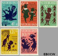 Nederland NL 802#806  1963 Kinderrijmpjes   cent  Gestempeld