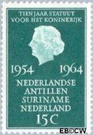 Nederland NL 835#  1964 Koninkrijks Statuut  cent  Gestempeld