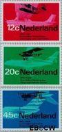 Nederland NL 909#911  1968 Luchtvaart  cent  Gestempeld