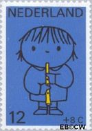 Nederland NL 932  1969 Kind en muziek 12+8 cent  Postfris
