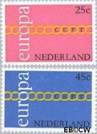 Nederland NL 990#991  1971 C.E.P.T.- Schakels  cent  Gestempeld