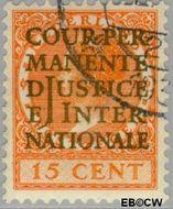 Nederland NL D14  1934 Cour Permanente de Justice 15 cent  Gestempeld
