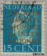 Nederland NL D18  1940 Cour Permanente de Justice 15 cent  Gestempeld