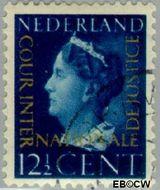 Nederland NL D22  1947 Cour Internationale de Justice 12½ cent  Gestempeld
