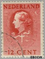 Nederland NL D35  1951 Cour Internationale de Justice 12 cent  Gestempeld