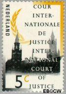 Nederland NL D44  1989 Cour Internationale de Justice 5 cent  Gestempeld