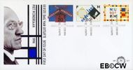 Nederland NL E317  1994 Mondriaan, Piet  cent  FDC zonder adres