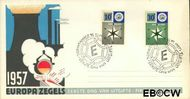 Nederland NL E32  1957 Windroos   cent  FDC zonder adres