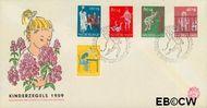 Nederland NL E41  1959 Activiteiten kinderen   cent  FDC zonder adres