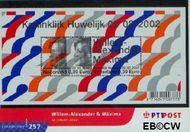 Nederland NL M257  2002 Koninklijk Huwelijk  cent  Postfris