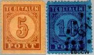 Nederland NL P1#P2  1870 Portzegel  cent  Gestempeld