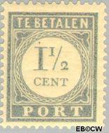 Nederland NL P46  1912 Portzegel 1½ cent  Gestempeld
