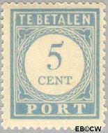 Nederland NL P51  1912 Portzegel 5 cent  Gestempeld
