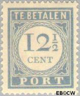 Nederland NL P56  1912 Portzegel 12½ cent  Gestempeld