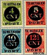 Nederland NL P65#P68  1924 Portzegel  cent  Gestempeld
