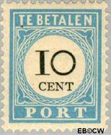 Nederland NL P7  1887 Portzegel 10 cent  Gestempeld