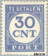 Nederland NL P78  1921 Portzegel 30 cent  Gestempeld