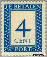 Nederland NL P82  1947 Portzegel 4 cent  Gestempeld