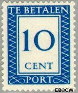 Nederland NL P87  1947 Portzegel 10 cent  Gestempeld