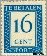 Nederland NL P92  1947 Portzegel 16 cent  Gestempeld
