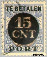 Nederland NL PV2  1923 Interne verrekeningszegel 15 op 17½ cent  Gestempeld