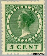Nederland NL R6  1925 Type 'Veth' 5 cent  Gestempeld