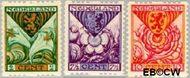 Nederland NL R71#R73  1925 Wapens  cent  Gestempeld