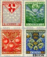 Nederland NL R74#R77  1926 Wapens  cent  Gestempeld