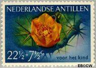 Nederlandse Antillen NA 251  1955 Bloemen 22½+7½ cent  Gestempeld