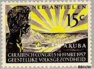 Nederlandse Antillen NA 261  1957 Geestelijke volksgezondheid 15 cent  Gestempeld