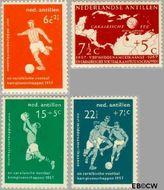 Nederlandse Antillen NA 265#268  1957 Voetbalkampioenschappen  cent  Gestempeld