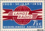 Nederlandse Antillen NA 291  1958 Landsradio  7½ cent  Gestempeld