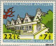 Nederlandse Antillen NA 301  1959 Monumentenzorg  22½+7½ cent  Gestempeld