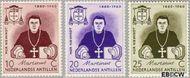 Nederlandse Antillen NA 311#313  1960 Sterfdag Niewindt  cent  Gestempeld