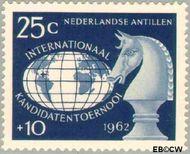 Nederlandse Antillen NA 332  1962 Kandidatentoernooi schaken 25+10 cent  Gestempeld