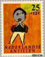 Nederlandse Antillen NA 342  1963 Kindertekeningen 25+12 cent  Gestempeld