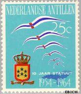 Nederlandse Antillen NA 352  1964 Koninkrijks Statuut 25 cent  Gestempeld