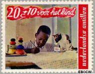 Nederlandse Antillen NA 402  1968 Kind en dier  cent  Gestempeld