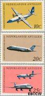 Nederlandse Antillen NA 404#406  1968 Vliegtuigen 10 cent  Gestempeld