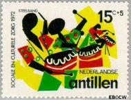 Nederlandse Antillen NA 452  1972 Muziek 15+5 cent  Gestempeld
