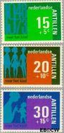 Nederlandse Antillen NA 481#483  1973 Hulp en zorg  cent  Gestempeld