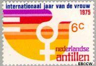Nederlandse Antillen NA 512  1975 Internationaal Jaar van de Vrouw 6 cent  Gestempeld