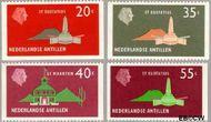 Nederlandse Antillen NA 559#562  1977 Landschappen  cent  Gestempeld