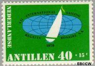 Nederlandse Antillen NA 627  1979 Sailing Regatta 40 cent  Gestempeld