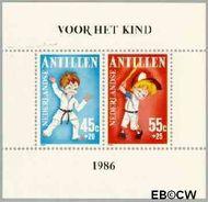 Nederlandse Antillen NA 854  1986 Kind en sporten  cent  Postfris