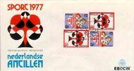 Nederlandse Antillen NA E102a  1977 Bridge-toernooi Aruba 20 cent  FDC zonder adres